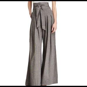 L.A.M.B. Grey Wide Leg High Waist Trousers Linen 4